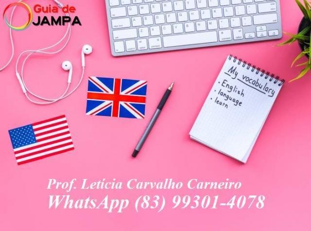 Professora de Inglês em João Pessoa - Letícia Carvalho Carneiro - Aulas Particulares de Inglês